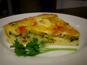 Zucchini, Tomato & Parmesan Frittata Low Fat Recipe