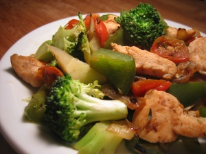 savory chicken & vegetable sautee low fat recipe