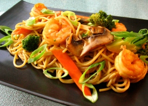 shrimp and broccoli lo mein lowfat recipe