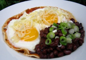 Poached Huevos Rancheros low fat recipe
